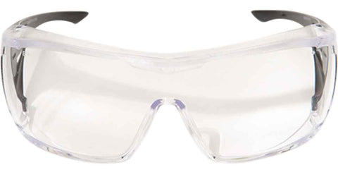Image of Edge Eyewear OSSA Over Fit Rx Safety Glasses Clear/Black Ballistic XF111-L