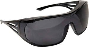 Edge Eyewear OSSA Over Fit Rx Safety/Sun Glasses Black/Smoke Ballistic XF116-L