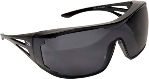 Image of Edge Eyewear OSSA Over Fit Rx Safety/Sun Glasses Black/Smoke Ballistic XF116-L