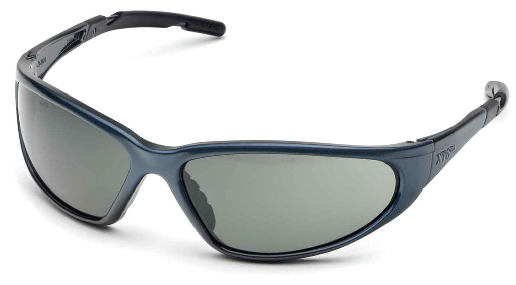 Elvex Delta Plus XTS Safety/Sun Glasses Grey Polarized Lens Black Frame Z87.1