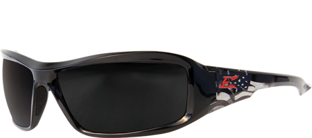 Edge Eyewear Brazeau Patriot 1™ Safety/Sun Glasses Smoke Lens Ballistic Z87.1 XB116-P1