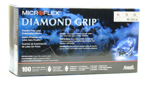 Image of Ansell Diamond Grip Latex Disposable Gloves