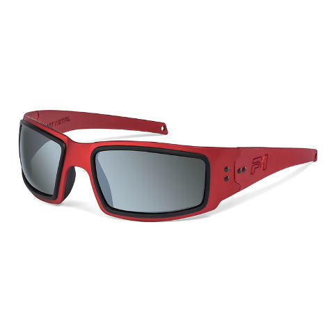 Fast Metal Speed Demon Safety/Sun Glasses Kit Red Foam Polarized & Clear Lens