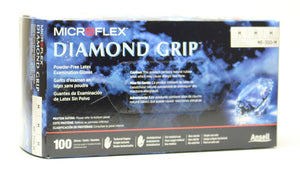 Ansell Diamond Grip Latex Disposable Gloves
