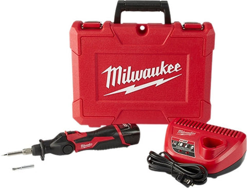 Image of Milwaukee M12 Volt Cordless Pivoting Head Soldering Kit 2488-21