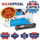 Max Optical 2Pack Canon 6273B001AA/131 II High Yield Compatible Toner- Black