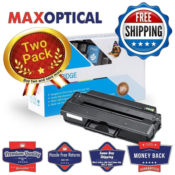 FREE SHIPPING  2Pack Dell 331-7328 High Yield Compatible Toner- Black
