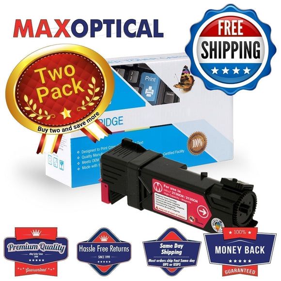 ? FREE Shipping  2Pack Dell 330-1433 Compatible Magenta Toner Cartridge