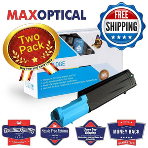 ??  2Pack Dell 341-3571 Compatible Cyan Toner Cartridge