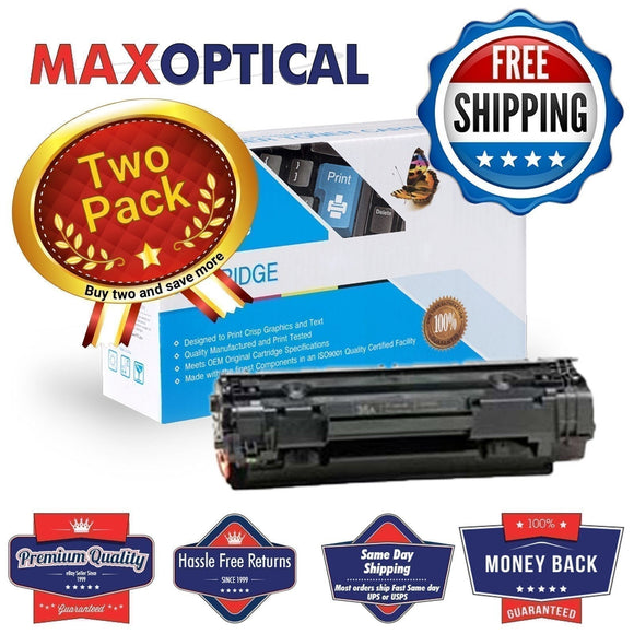 Max Optical 2Pack For HP CB436A Value Line Toner Cartridge