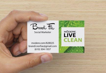 Live Clean Business Cards