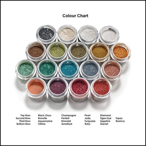 Mehron Precious Gem Powder Pigment-Face Powders-Mehron-Topaz-The Theatrical Make Up Store