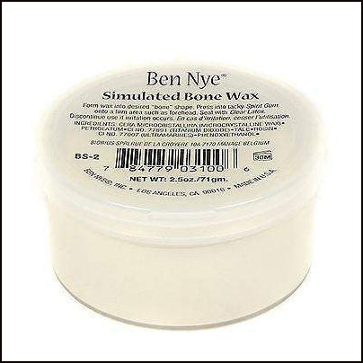 Ben Nye Simulated Bone Wax Bone Coloured Modelling Wax-Face Putty & Wax-Ben Nye-The Theatrical Make Up Store