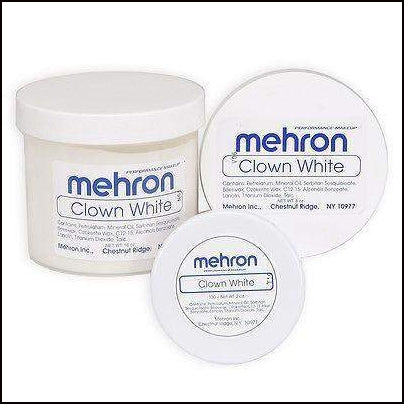 Mehron Professional Clown White Face Make Up-Face Paint & Stage Make-Up-Mehron-The Theatrical Make Up Store