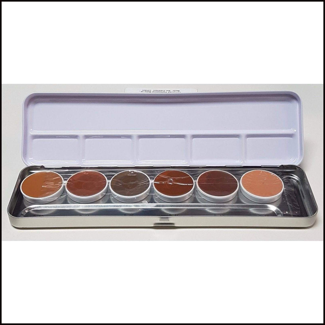 Kryolan DermaColor 6 Colour Camouflage Palette-Concealers-Kryolan-The Theatrical Make Up Store