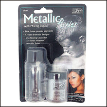 Mehron Metallic Powder & Mixing Liquid Carded Set-SFX Make Up-Mehron-Silver-The Theatrical Make Up Store