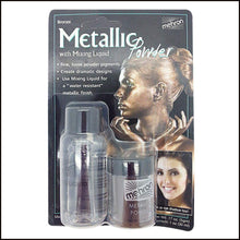 Mehron Metallic Powder & Mixing Liquid Carded Set-SFX Make Up-Mehron-Bronze-The Theatrical Make Up Store