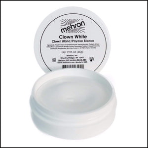 Mehron Professional Clown White Face Make Up-Face Paint & Stage Make-Up-Mehron-M131-2-2oz-The Theatrical Make Up Store