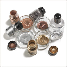 Mehron Metallic Powder & Mixing Liquid Carded Set-SFX Make Up-Mehron-The Theatrical Make Up Store
