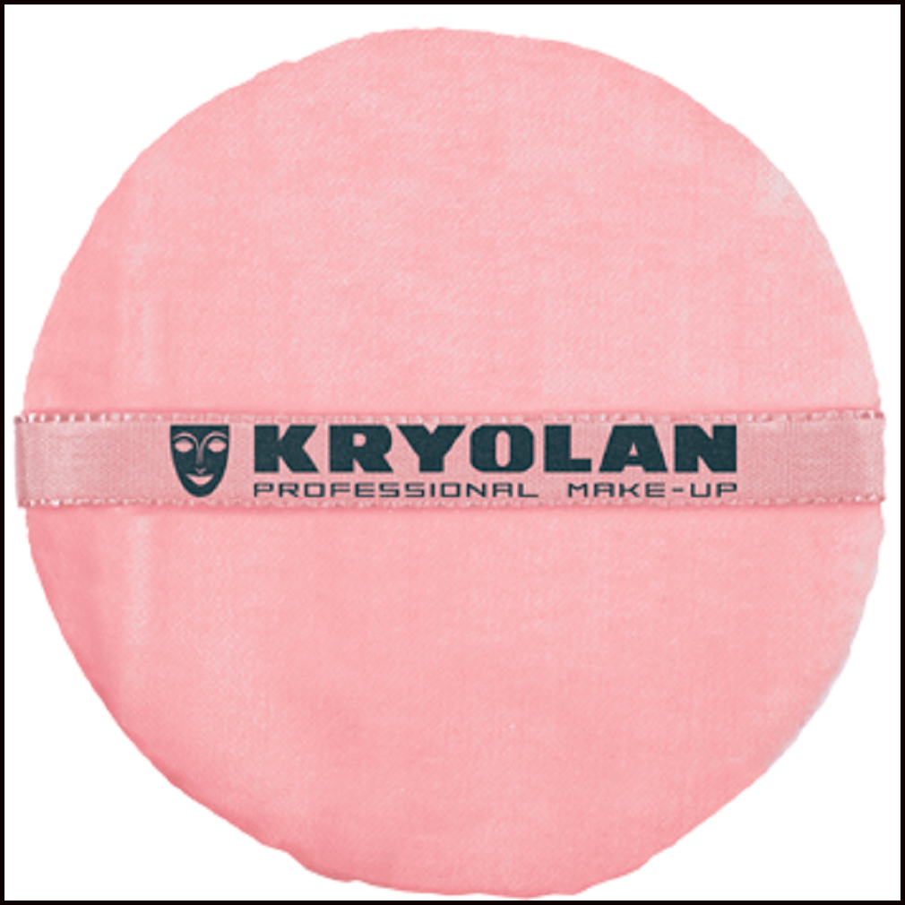 Kryolan Premium Powder Puff Pink 12cm-Brushes & Applicators-Kryolan-The Theatrical Make Up Store