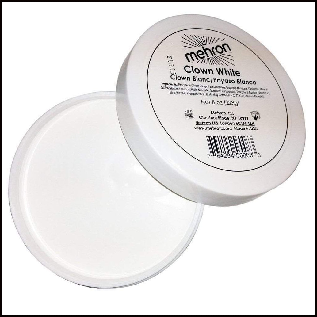 Mehron Professional Clown White Face Make Up-Face Paint & Stage Make-Up-Mehron-M132-7-7oz-The Theatrical Make Up Store