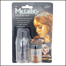 Mehron Metallic Powder & Mixing Liquid Carded Set-SFX Make Up-Mehron-Gold-The Theatrical Make Up Store