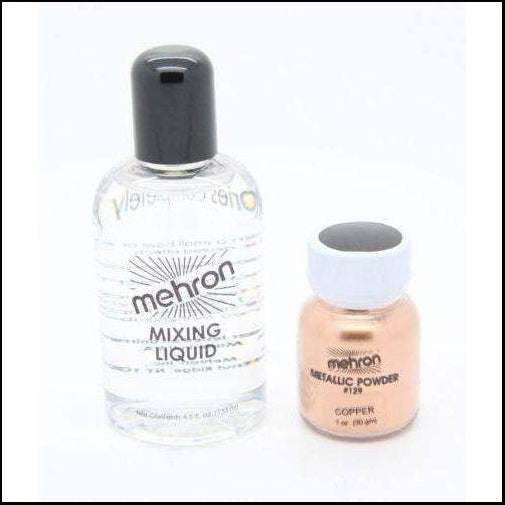 Mehron Metallic Powder & Mixing Liquid Face and Body Paint Long Lasting-SFX Make Up-Mehron-Copper-The Theatrical Make Up Store