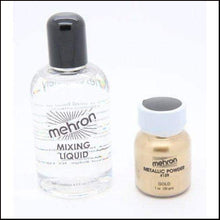 Mehron Metallic Powder & Mixing Liquid Face and Body Paint Long Lasting-SFX Make Up-Mehron-Gold-The Theatrical Make Up Store