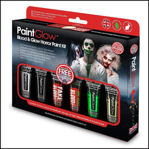 Blood & Glow Horror Paint Kit-Sets & Kits-PaintGlow-The Theatrical Make Up Store