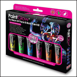 Pro Neon UV Face & Body Paint Kit-Sets & Kits-PaintGlow-The Theatrical Make Up Store