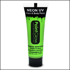 PaintGlow UV Face Paint & Body Paint, 13ml-Face Paint & Stage Make-Up-PaintGlow-NEON UV GREEN-The Theatrical Make Up Store