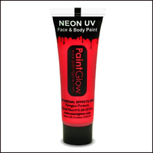 PaintGlow UV Face Paint & Body Paint, 13ml-Face Paint & Stage Make-Up-PaintGlow-UV RED-The Theatrical Make Up Store