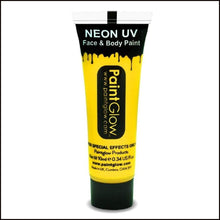 PaintGlow UV Face Paint & Body Paint, 13ml-Face Paint & Stage Make-Up-PaintGlow-UV YELLOW-The Theatrical Make Up Store