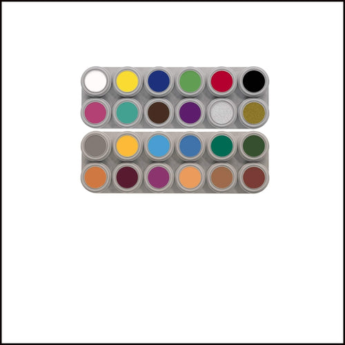 Grimas Professional Stage Face Paint / Water Make-Up 24 Colour Palette-Face Paint & Stage Make-Up-Grimas-The Theatrical Make Up Store