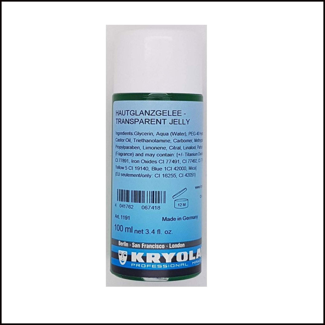 Kryolan Transparent Jelly 100ml Bottle Wet & Sweat Effects-Wet & Sweat-Kryolan-The Theatrical Make Up Store