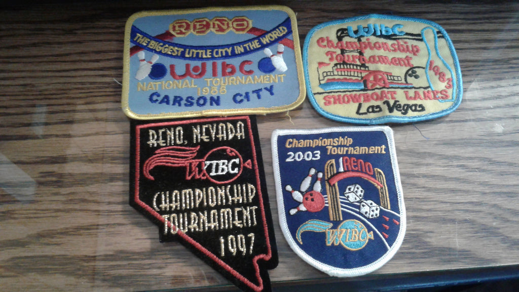 4 Miscellaneous WIBC Nevada Bowling Patches