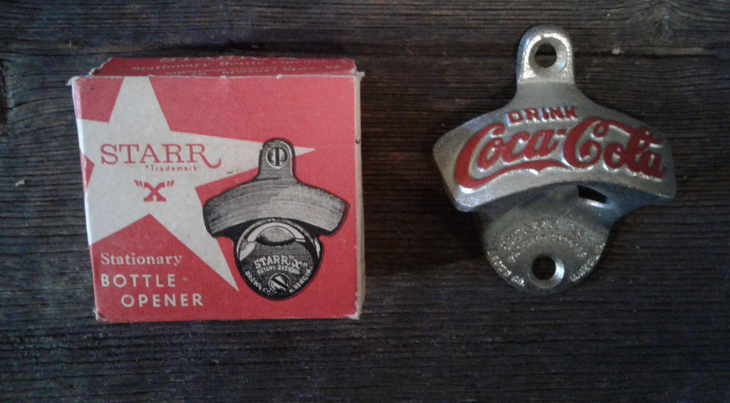 "Star ""X"" Stationary Bottle Opener Drink Coca Cola"