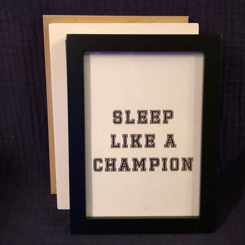 Champion Wall Art - Black