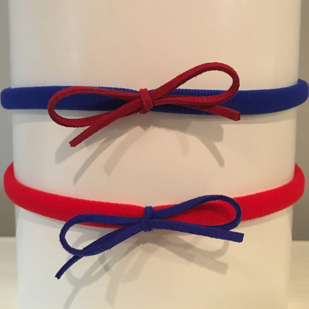 Laces Out Headband Set - Blue & Red