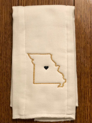Custom State Burp Cloth