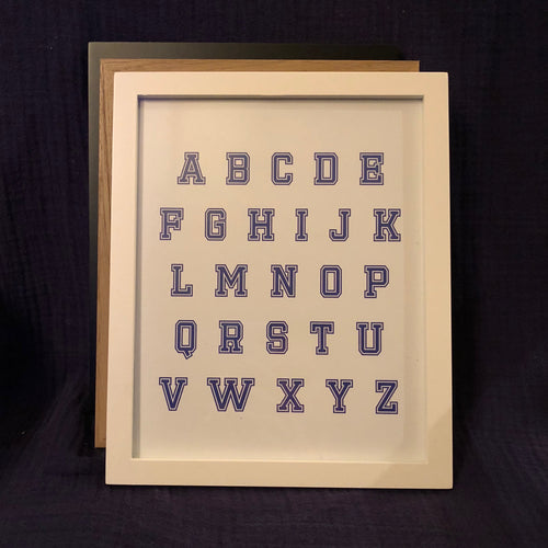 Alphabet Wall Art - Blue