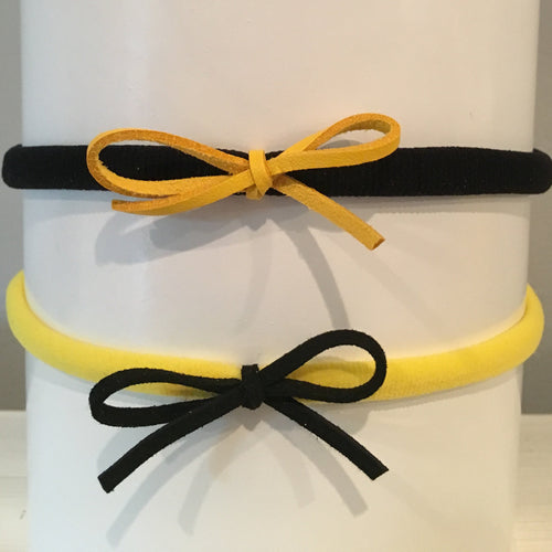 Laces Out Headband Set - Black & Yellow