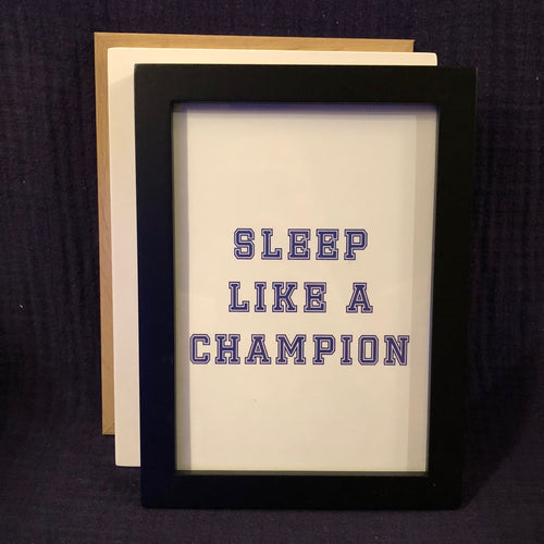 Champion Wall Art - Blue