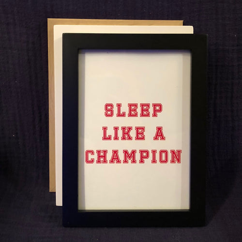 Champion Wall Art - Red