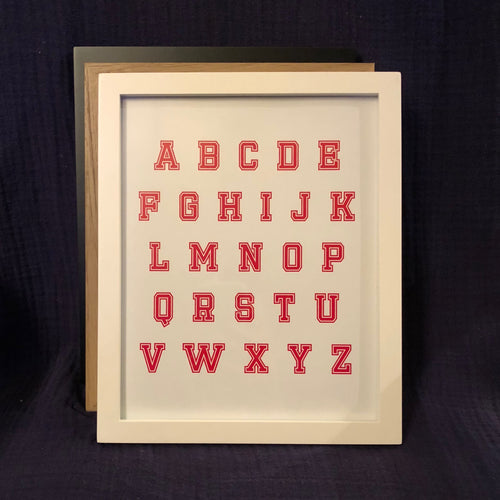 Alphabet Wall Art - Red