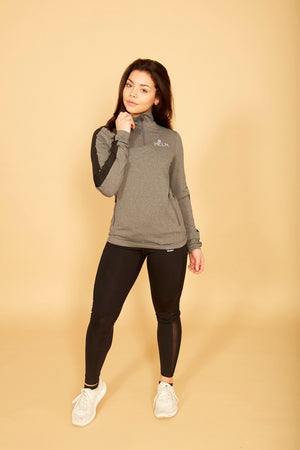 Bia Quarter Zip Jacket (Grey)