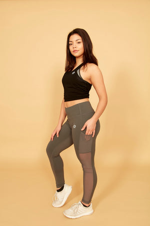 Athena Mesh Leggings (Grey)