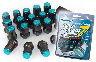 Project Mu Super Lock Nut7 Gunmetal 12x1.25 Lug Nuts