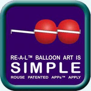 """SIMPLE"" illustration / logo / icon for RE-A-L™ Balloon Art"