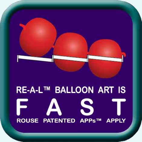"""FAST"" illustration / logo / icon for RE-A-L™ Balloon Art"